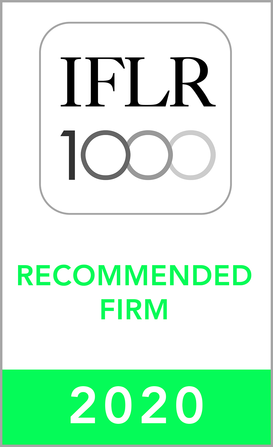 2020 - RECOMMENDED FIRM IN IFLR1000