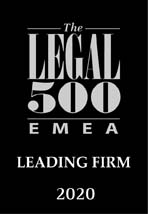 2019 - LEADING FIRM IN LEGAL500